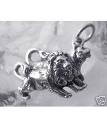 LOOK Lion lioness Real Sterling Silver .925 Charm pair love noahs ark Je... - $13.37