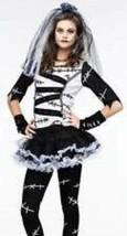 Teen Girls Monster Bride Top, Leggings, Veil, Sleeves 5 Pc Halloween Costume-0/9 - $12.87