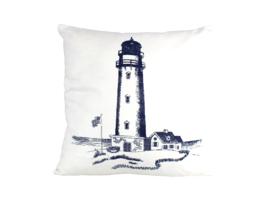 "Blue Lighthouse Decorative Throw Pillow 16"" - $35.90"