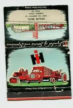 1950s  Fairfield Iowa ~ INTERNATIONAL Harvester Matchbook Cover Noller ... - $8.96