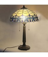 "Tiffany Style Stained Glass Table Lamp Victorian 2-Light 16"" Shade 24.5""... - $94.99"