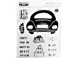 Raisin Boat Off to Party Clear Stamp Set #10003