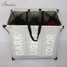 Home Bathroom Office Laundry Dirty Clothes Basket Storage Organizers - £35.78 GBP
