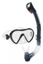 Speedo Adult Expedition Midnight Dk Navy Snorkel Mask Set Combo NEW
