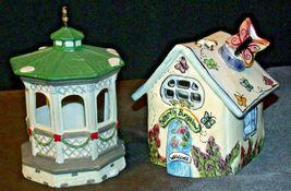 House Village (Candle Holders) AA20-2061 Vintage Pair image 3