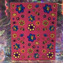 Vintage Lisa Frank Complete Sticker Sheet S496 Smile Flower Smilies DOPE AF image 2