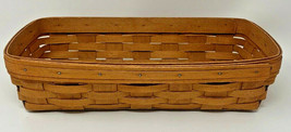1991 LONGABERGER 15 x 8 Rectangle Basket 19-1637 - $31.30
