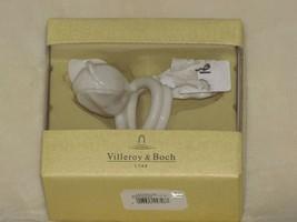 Villeroy & Boch Easter Brunch Napkin Ring Porcelain White Flower (1) - $19.30