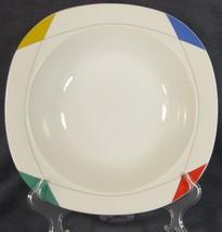 Christopher Stuart Montego Bay M2503 Vegetable Serving Bowl Multicolor Rim  - $21.95