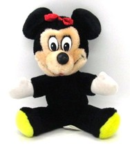 "Disney World Souvenir MINNIE MOUSE all Plush Doll Stuffed Toy 7"" tall 1980s - $8.54"