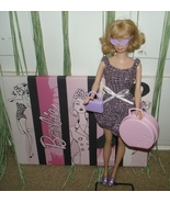 "HANDMADE CROCHET BARBIE ""PURPLE SPARKLE"" DRESS w/ ACCESSORIES SHOES SUNG... - $19.95"
