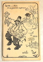 1915 WWI Comic Postcard Mocking Austrian General Italy Musacchio Signed Rare