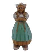 Syroco Wood Dutch Woman Vintage wood carved look - $19.99