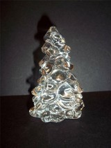 """Mosser Glass Crystal Clear 2.75"""" Mini Christmas Tree Holiday Decoration New! - $13.53"""