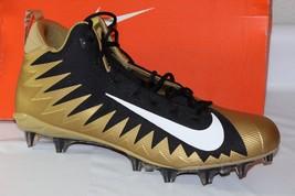 Nike Alpha Menace Pro Mid Pf Men's Football Cleats, Size 17,GOLD/BLACK, 866012- - $52.13