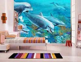 3DFreundlich Happy Dolphin Fototapeten Wandbild Fototapete BildTapete Familie DE - $52.21+