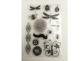 Insects and Flowers Clear Stamp Set