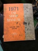 1971 Ford Car Volume 2 Engine Shop MANUAL Vintage car automobile repair - $39.99