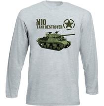 M10 Tank Destroyer Usa Army Tank - New Cotton Grey Tshirt - $23.17