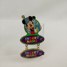 Disney Pin Trading Mickey Mouse Happy Birthday Gift Party Hat Dangle Nam... - $25.73