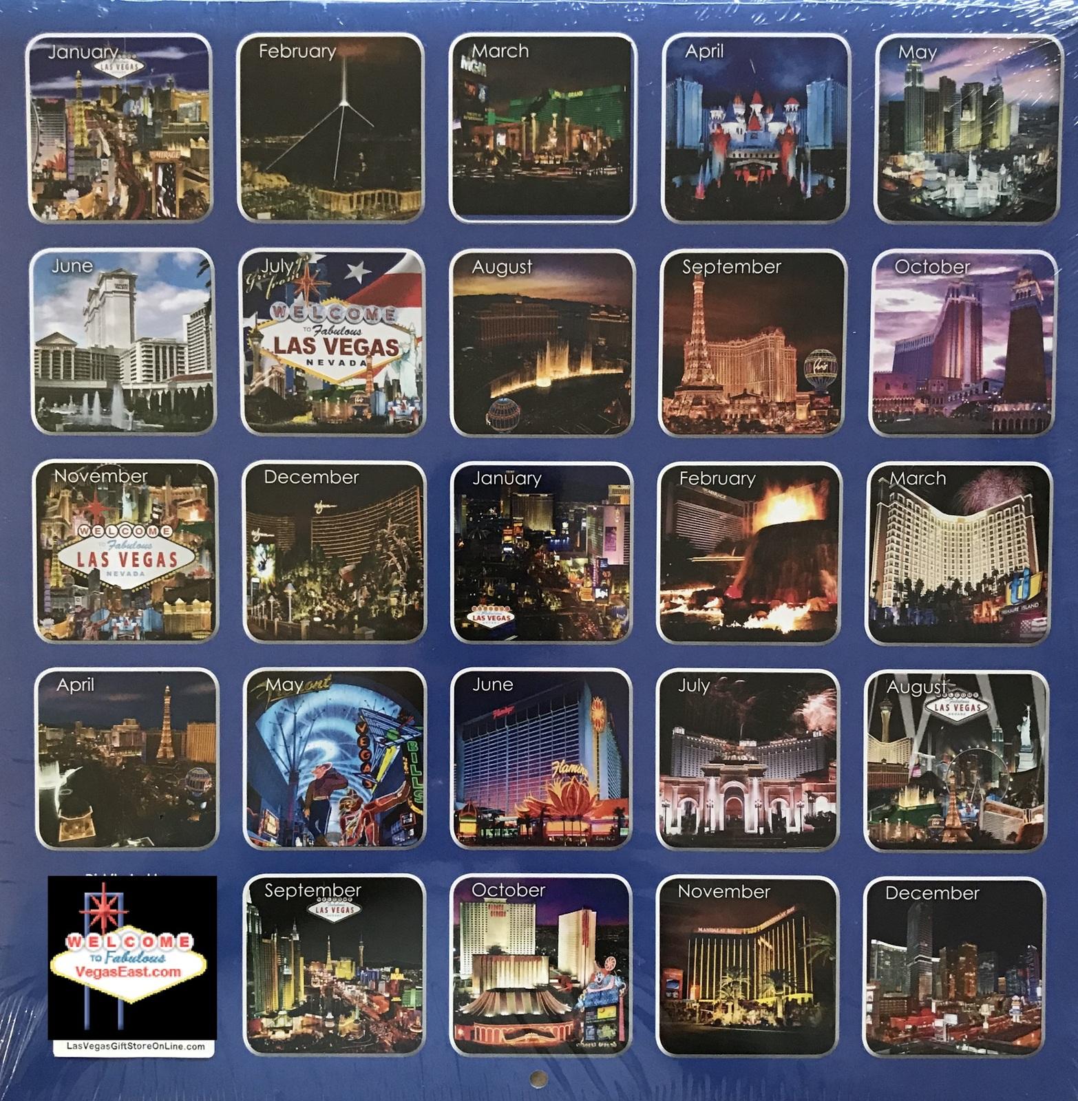 Las Vegas Calendar 2022.2021 2022 24 Month 2 Year Las Vegas Wall And 9 Similar Items