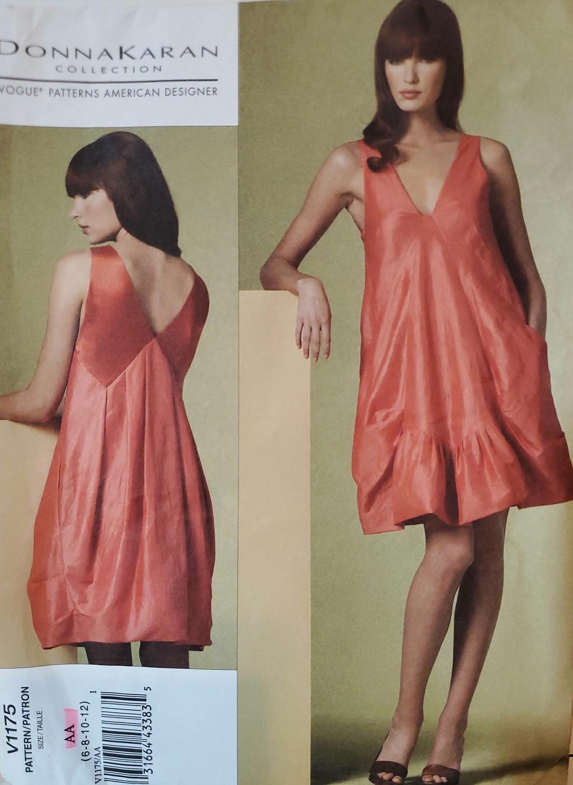 Primary image for Vogue Pattern 1175 Donna Karan Collection