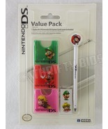 Hori Nintendo DS UHDL-192 Mario Stylus 6 Game Card Cases Stickers Value ... - $8.90