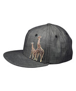 Giraffe and Calf Hat by LET'S BE IRIE - Washed Black Denim Snapback - £17.26 GBP
