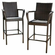 Christopher Knight Home 295946 Stewart Outdoor Bar Stool, Set Of 2 Brown - $266.99