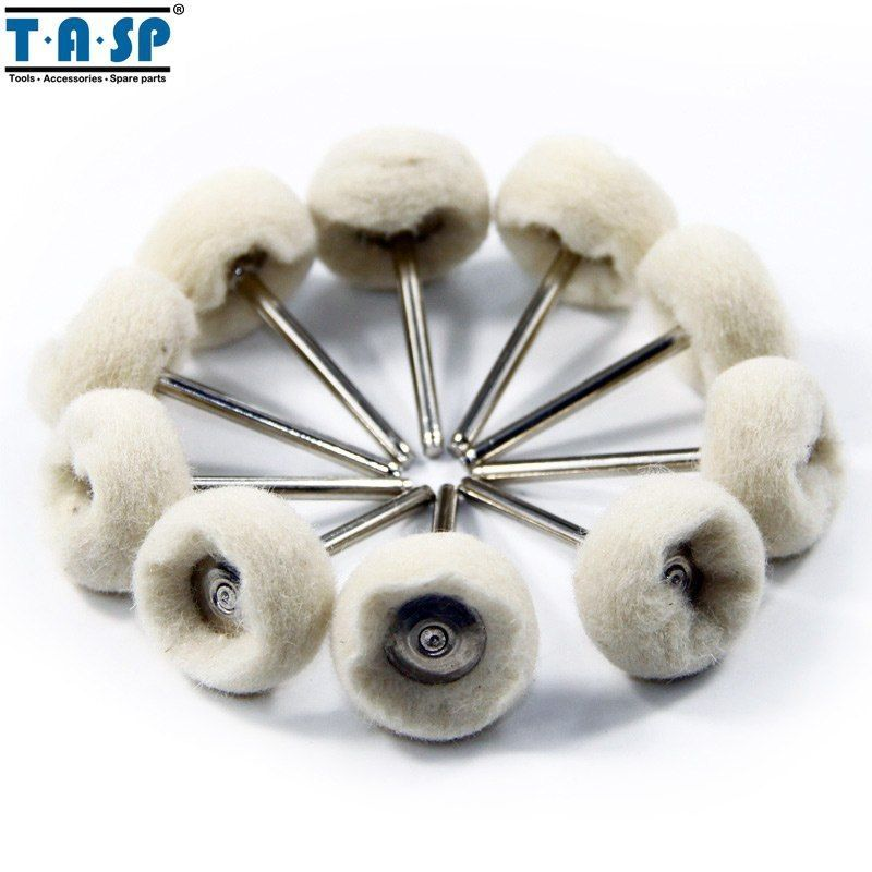 Primary image for TASP® 10pc/Set Wool Polishing Pad 3.2mm Shank Buffing Wheel For Jewelry