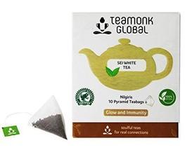 Teamonk Sei Nilgiri White Tea Bags - 10 Teabags | Powerful Antioxidant Tea | Tea - $9.99