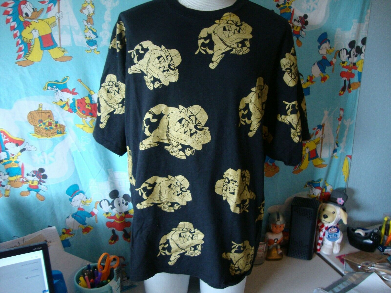 Primary image for Vintage 90's Looney Tunes Taz All Over Print T Shirt 3XL