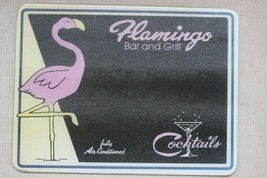 Vtg Flamingo Bar Grill Cocktails Air Condition Glass Cutting Board Counter Saver - $98.99