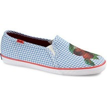 KEDS Champion Fruit CHERRIES Canvas SHOES Breathable Flexible Gingham Up... - $59.97