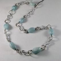 NECKLACE THE ALUMINIUM LONG 60 CM WITH AQUAMARINE BLUE BLUE image 3
