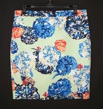 J. Crew Basketweave Pencil Skirt 14 Cotton Floral Peony - $27.89