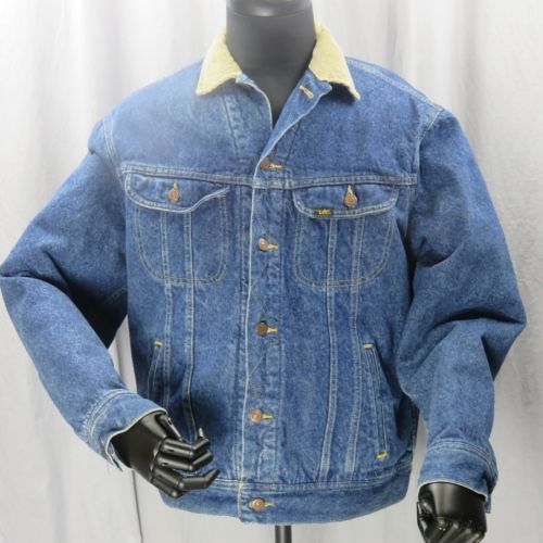 Primary image for Lee Bufera Cavaliere Giacca di Jeans Coperta Foderato Classico Cowboy Large
