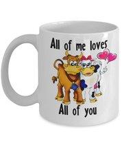All Of Me Loves All Of You. 11 oz White Ceramic Coffee or Tea Mug - $15.99