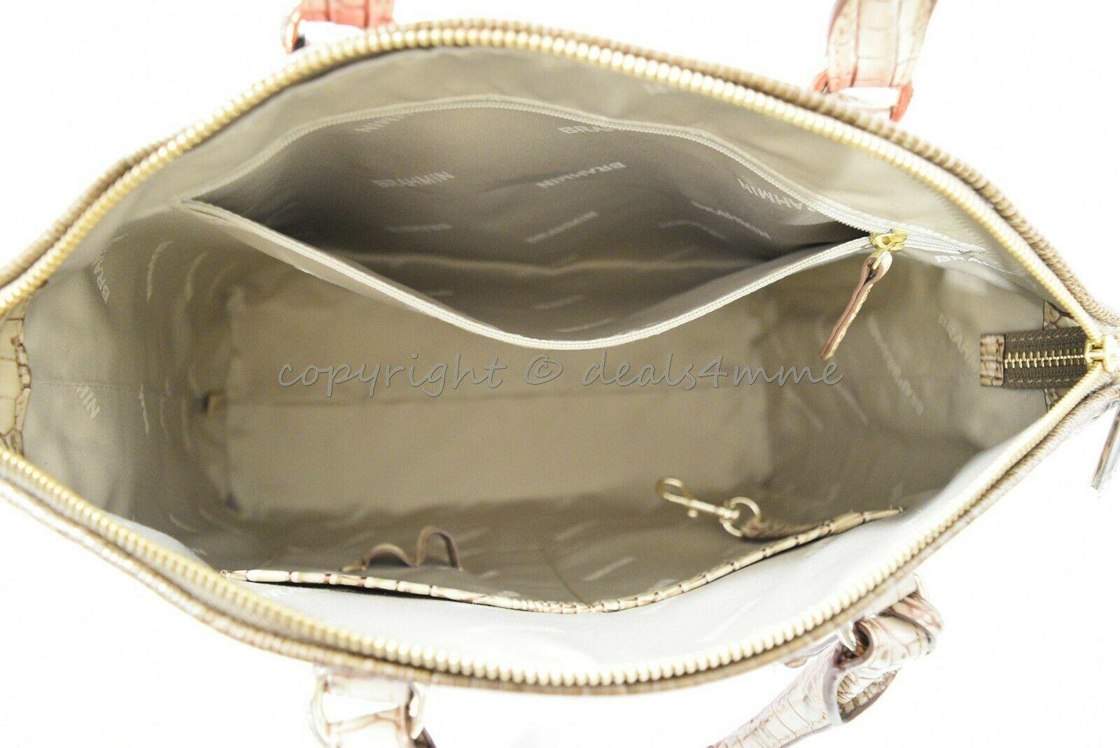 NWT Brahmin Large Duxbury Satchel/Shoulder Bag in Candy Apple Carlisle image 3