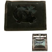 NCAA North Carolina Wallet Team Black Tri-Fold Leather Brand New Logo Me... - $12.82