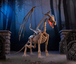 Life Size 6 ft  Animated Skeleton Dragon Halloween Prop - €171,76 EUR