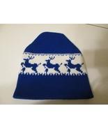 Vintage Blue White Buck Deer Stocking Hat Ski Snowboarding A & H Knittin... - $22.00