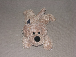 Animal Adventure 2002 Stuffed Plush Puppy Dog Tan Beige Brown Curly Shaggy B EAN S - $46.07