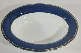"LM Wedgwood Crown Sapphire 10"" Oval Vegetable Veggie Serving Bowl 783698... - $93.49"