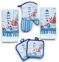 American Mills Kitchen Towel Set 5 Piece Towels Pot Holders Oven Mitt De... - $25.50