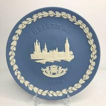 1974 Wedgwood Blue Jasperware The Houses of Parliament Christmas Vintage... - $9.49