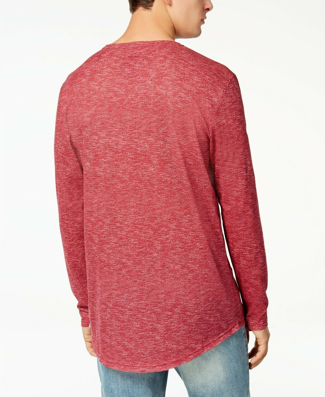 American Rag Men's Heathered Long Sleeve T-Shirt, Worn Red, Size XXL, MSRP $30