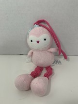 Carter's Child of Mine small mini pink owl crib pull toy plush vibrating... - $9.89