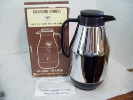 Vintage Diamond Brand Vacuum Serving Pitcher Carafe 1.0 Liter D3 Free Sh... - $22.72