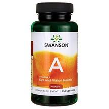 Swanson Vitamin A 10000 Iu 3000 mcg 250 Sgels - $11.73